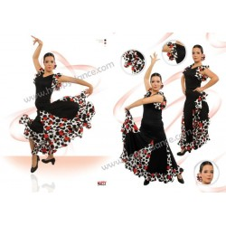JUPE FLAMENCO EF065 HAPPY DANCE